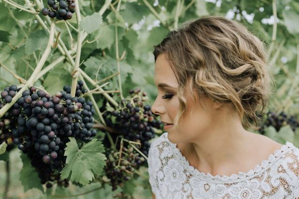 Bride and Grapevines
