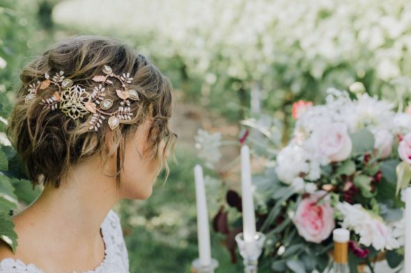 Rustic Bridal Hair