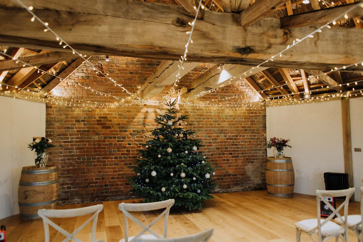 Christmas Small Wedding Venue Setting