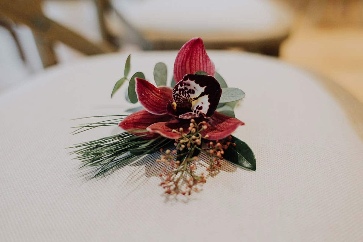 Modern Wedding Buttonhole