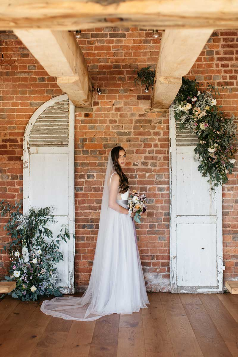 Elopement wedding package bride in the roundhouse