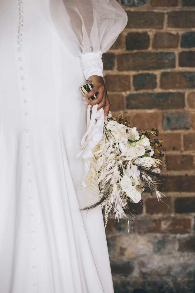 Wedding bouquet in the roundhouse